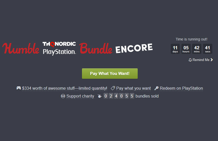 humble bundle thq nordic playstation