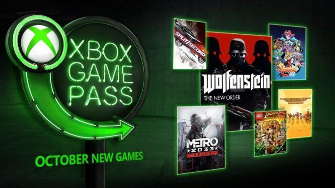 xbox game pass octobre 2018