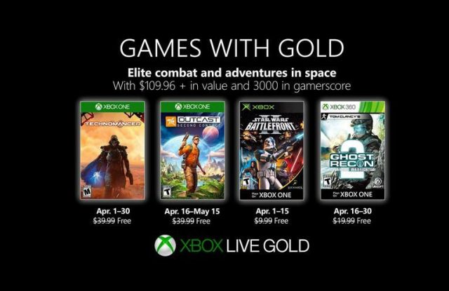 xbox live gold avril 2019
