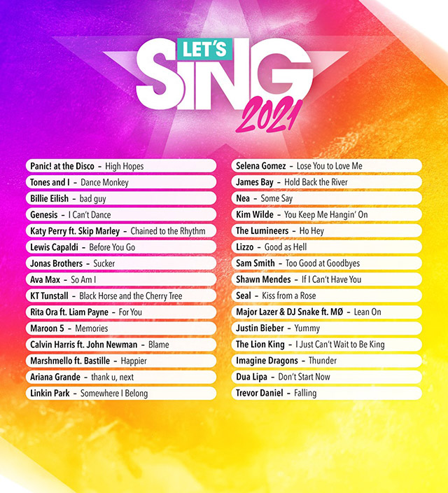 playlist let's sing 2021